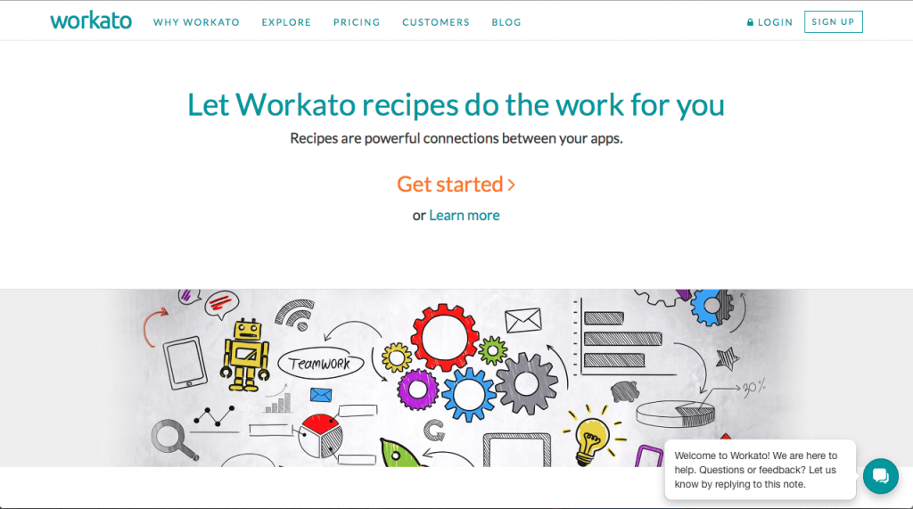 Workato Home Page 2015