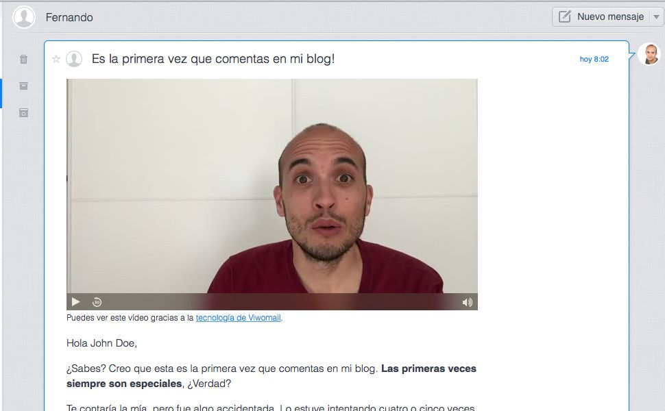 Captura Vídeo en Email Viwo