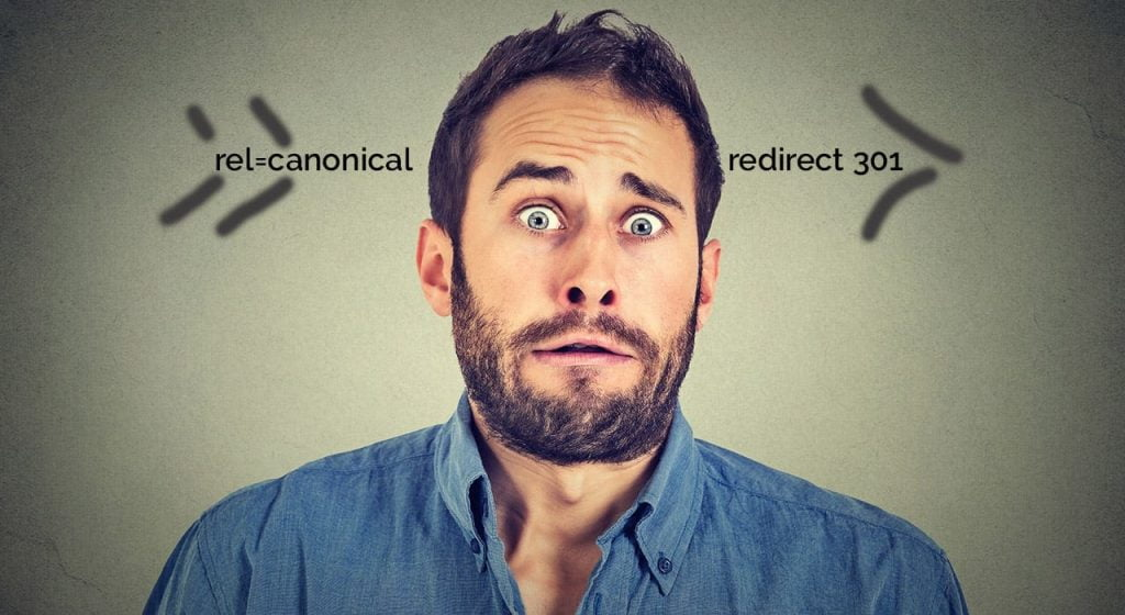Canonical contra redirect 301