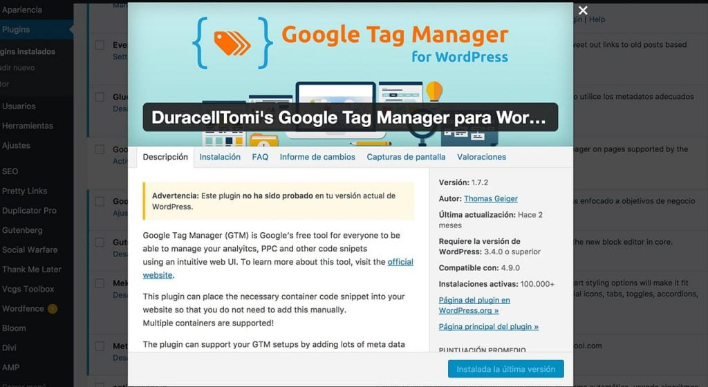 captura de duracell tag manager